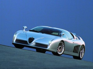 1997 Italdesign Scighera Concept based around Alfa Romeo's 164 had twin turbo V6 power and four wheel drive